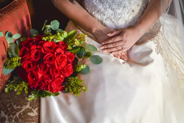 red rose bridal bouquet weslaco texas