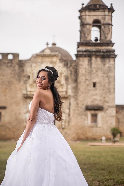 san antonio missions bridal shoot