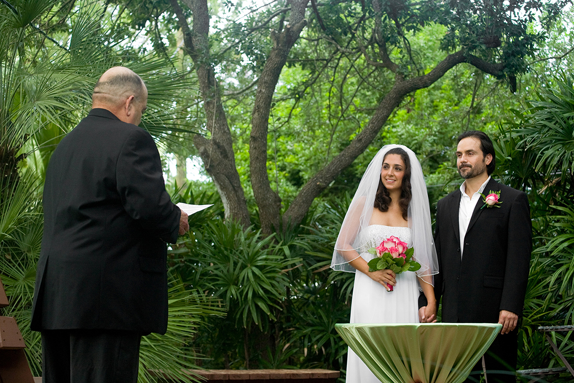 civil ceremony backyard at home wedding