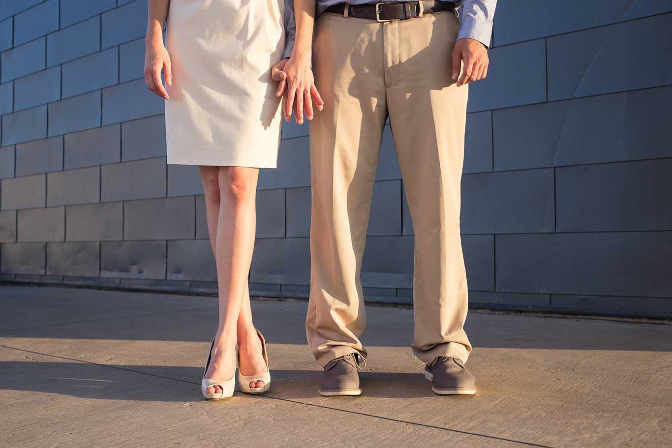 alternative austin engagement photo feet